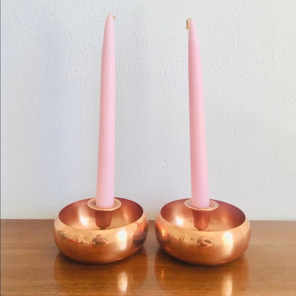 Vintage Other - Mcm taunton mass coppercraft guild candle holders
